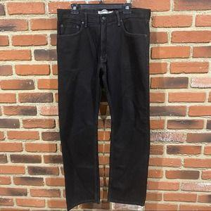 Black Levi Straight leg jeans Sz 34 x 32